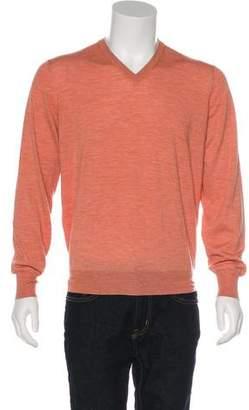 Brunello Cucinelli Wool & Cashmere V-Neck Sweater