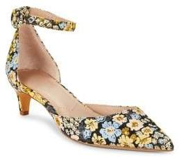 Charles by Charles David Kadie Floral Fabric Kitten Pumps