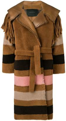 Blancha striped patterned loose coat