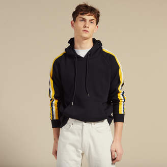 Sandro Hoodie with striped braid trims