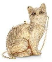 Judith Leiber Couture Couture Women's Crystal Cat Morris Clutch - Champagne