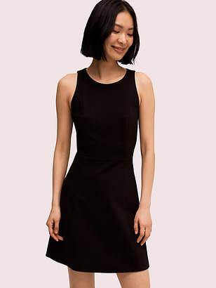 Kate Spade Paneled Ponte Dress, Black - Size L