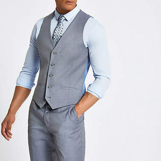 River Island Light blue suit vest