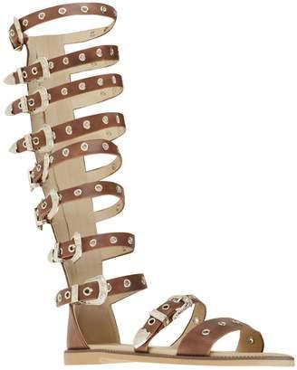 adec2b7714564 at Amazon Canada · Fashion Thirsty Womens Flat Knee High Strappy Sandals  Western Gladiator Summer Size 8