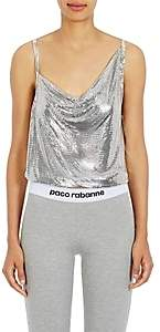 Paco Rabanne Women's Metal Mesh Draped-Front Top - Silver