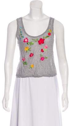 Blumarine Embroidered Sleeveless Top