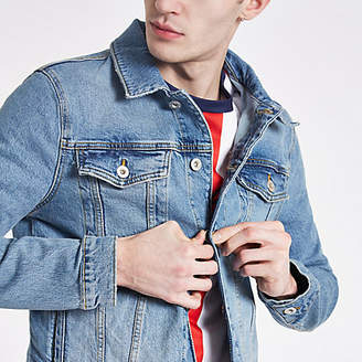 River Island Blue wash denim jacket
