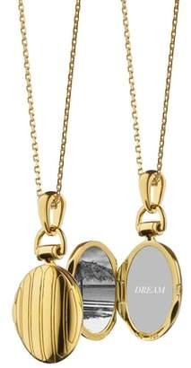 Monica Rich Kosann Petite Pinstripe Locket Necklace