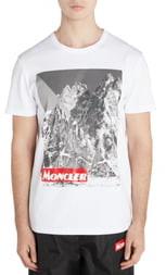Moncler Mountain Print T-Shirt