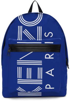 Kenzo Blue Logo Backpack