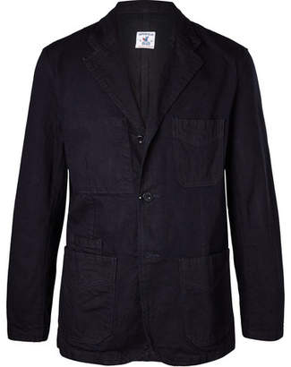 Arpenteur Navy Cotton-Twill Blazer