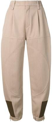 Chloé leather patch trousers