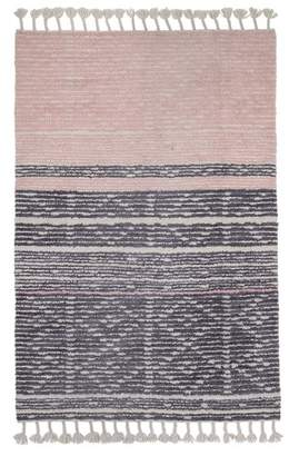 Kas Pink & Grey Tasselled KNOx Rug