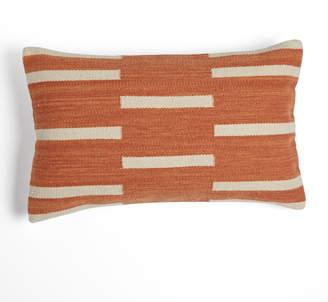 Rejuvenation Woven Mohair Dashed Stripe Pillow Cover