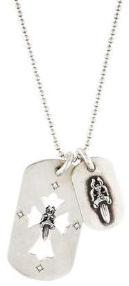 Chrome Hearts Double Dog Tag Necklace