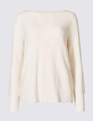 Marks and Spencer Stitch Detail Slash Neck Jumper