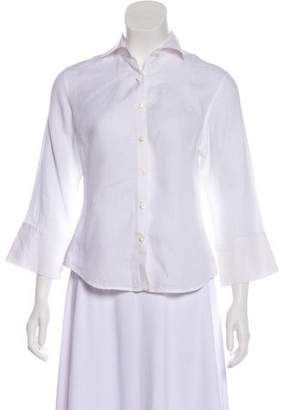 Façonnable Linen Button-Up Top