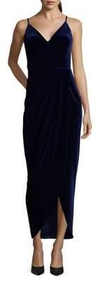 Xscape Evenings Spaghetti-Strap Velvet Sheath Dress
