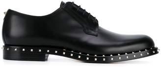 Valentino Black Rockstud Derby Shoes