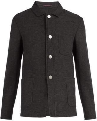 THE GIGI Point collar wool-blend blazer