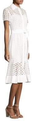 Milly Checked Illusion Dress