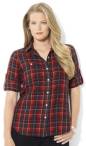 Lauren Ralph Lauren Flannel Roll-Sleeved Shirt