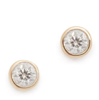 Adina 14k Gold Single Diamond Stud Earrings