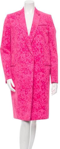 CelineCéline Velvet-Trimmed Coat