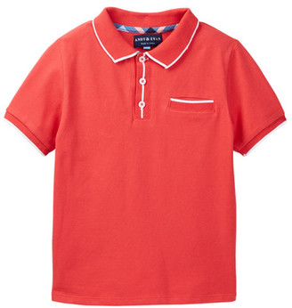 Andy & Evan Ribbed Polo (Toddler & Little Boys) $40 thestylecure.com