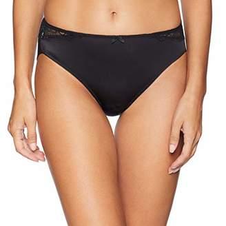 Arabella Women's Standard Hi Cut Lace Back Panty