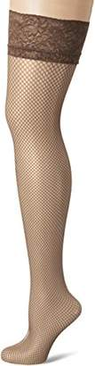 Fiore Women's Liza/Sensual Hold-up Stockings, 40 DEN, (Brown Mocca), (Size: 2)