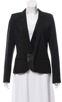 Barbara Bui Wool Leather-Accented Blazer