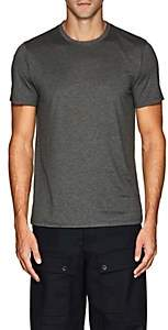 Theory Men's Claey Plaito Silk-Cotton T-Shirt - Charcoal