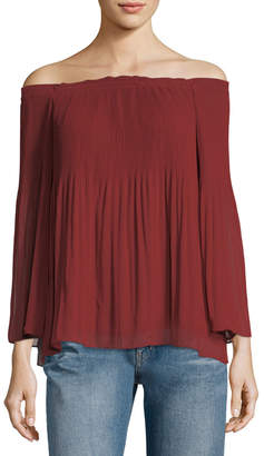 Max Studio Off-the-Shoulder Georgette Blouse