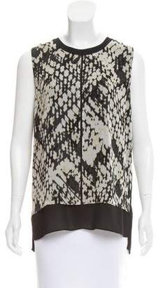 Vince Sleeveless Silk Top