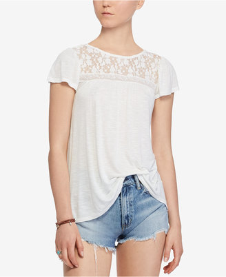 Denim & Supply Ralph Lauren Lace-Up Jersey Top $79.50 thestylecure.com