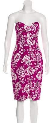 Michael Kors Printed Strapless Dress w/ Tags