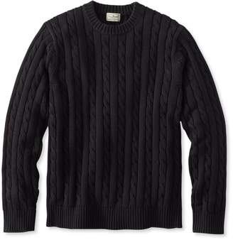 L.L. Bean L.L.Bean Double L Cotton Sweater, Cable Crewneck