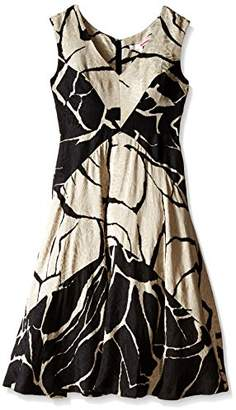 Tracy Reese Women's Floral Jacquard Fit and Flare Dress,4