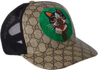 Gucci Gg Supreme Bosco Canvas Baseball Hat