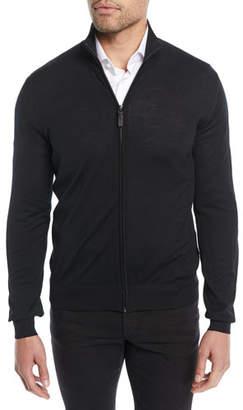 Brioni Men's Wool Zip-Front Sweater