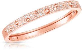 Roberto Coin Pois Moi Luna 18k Rose Gold Diamond Bangle Bracelet