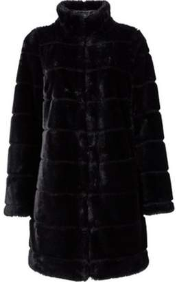 Dorothy Perkins Womens Black Carved Faux-Fur Coat