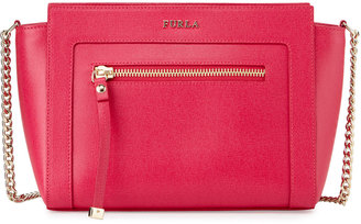 Furla Ginevra Small Leather Crossbody Bag, Gloss $280 thestylecure.com