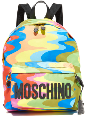 Moschino Printed Backpack $695 thestylecure.com