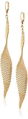 "Kenneth Cole New York Jeweled Elements"" Mesh Twist Drop Earrings"