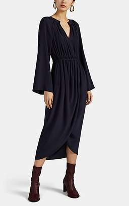 Co Women's Crepe Wrap Midi-Dress - Navy