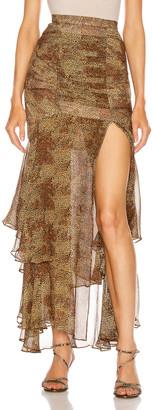 Nicholas Tuck Front Skirt in Tan Multi   FWRD
