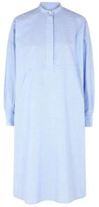 Maison Margiela Striped Oversized Cotton Shirt Dress
