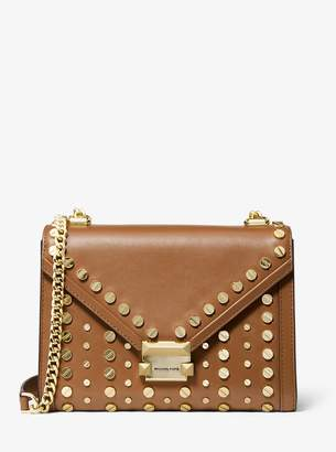 MICHAEL Michael Kors Whitney Large Studded Leather Convertible Shoulder Bag